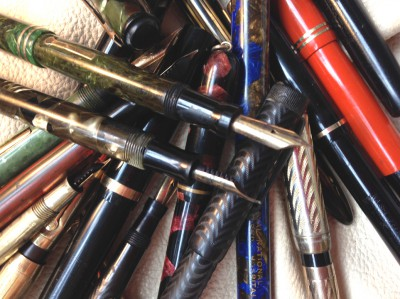 art by somerville artist Pier  Gustafson titled  Assorted Pens for Sale