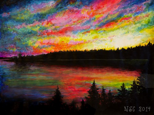 art by somerville artist Nick  Carlisle titled  Acadia Sunset #6