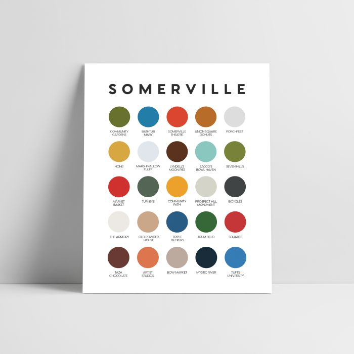 art by somerville artist   Lunch City Studio titled  Boston Icons Color Palette