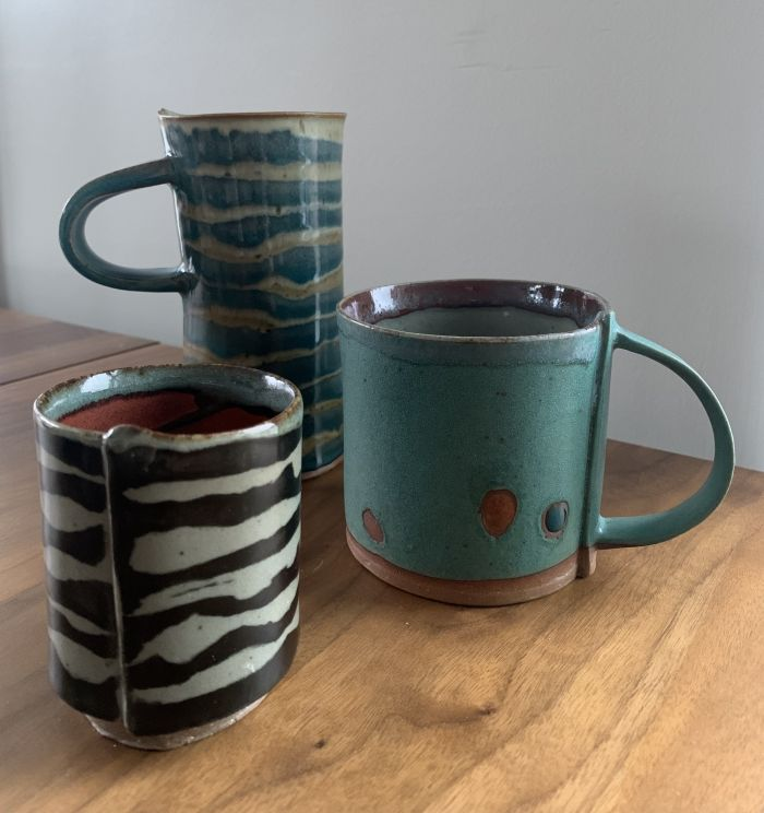 art by somerville artist Elizabeth  Stahl titled  Rice bowls large and small